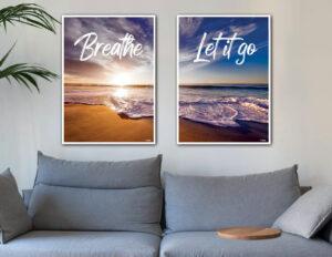 Breathe - Let it go. Fotokunst