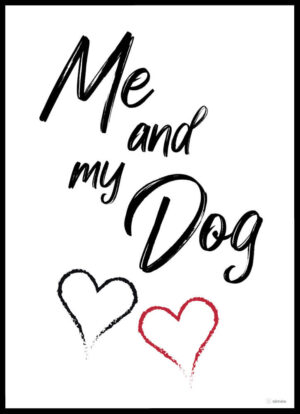 Me and my dog plakat