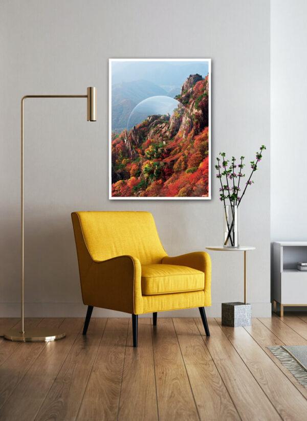 Mountain crystal ball fotokunst