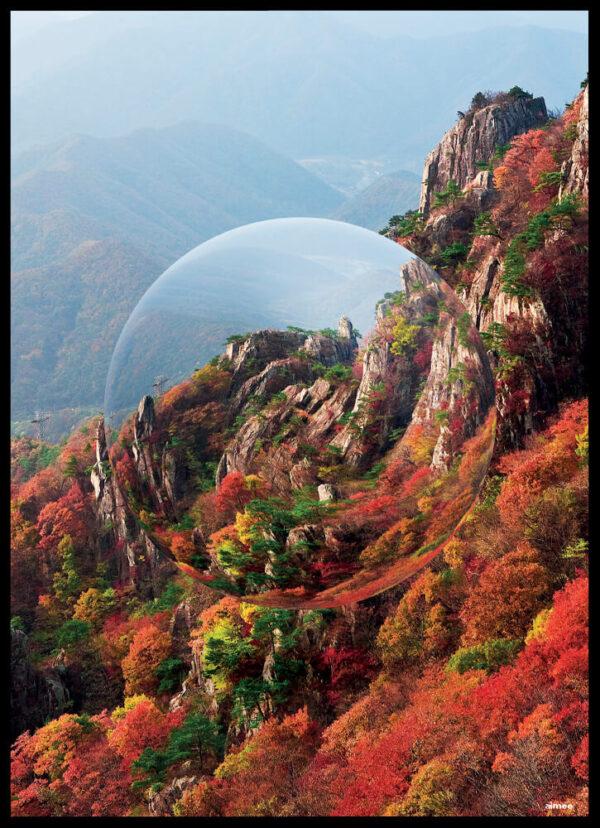 Mountain crystal ball plakat
