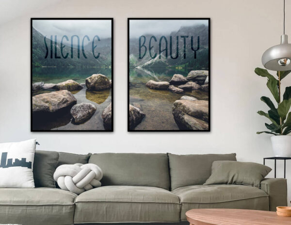 Silence - Beauty. Fotokunst