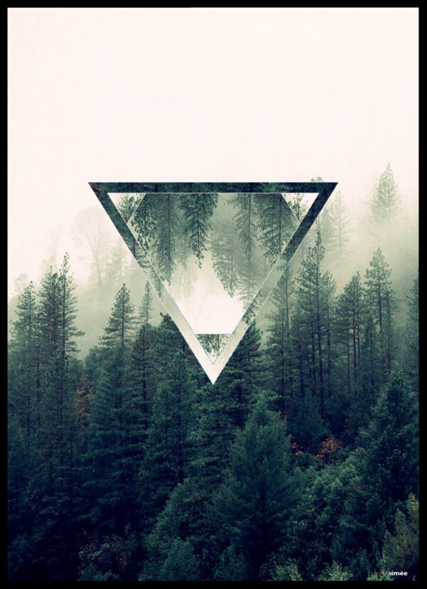 The forest triangle plakat