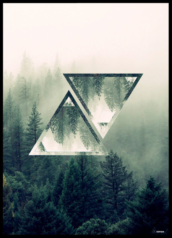 The forest triangles plakat