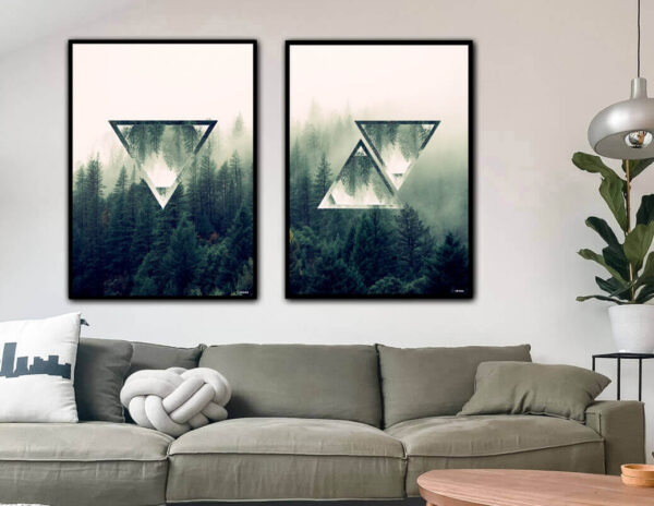 The forest triangles fotokunst