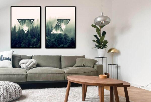 The forest triangles plakatsæt