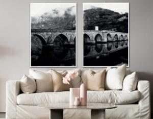 Bridge reflection fotokunst