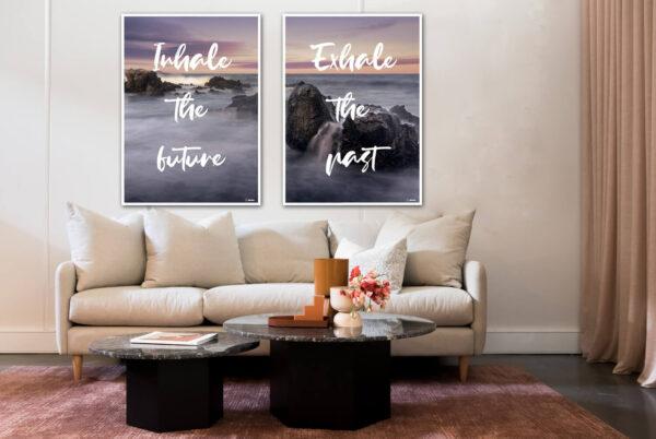 Inhale the future - Exhale the past plakatsæt