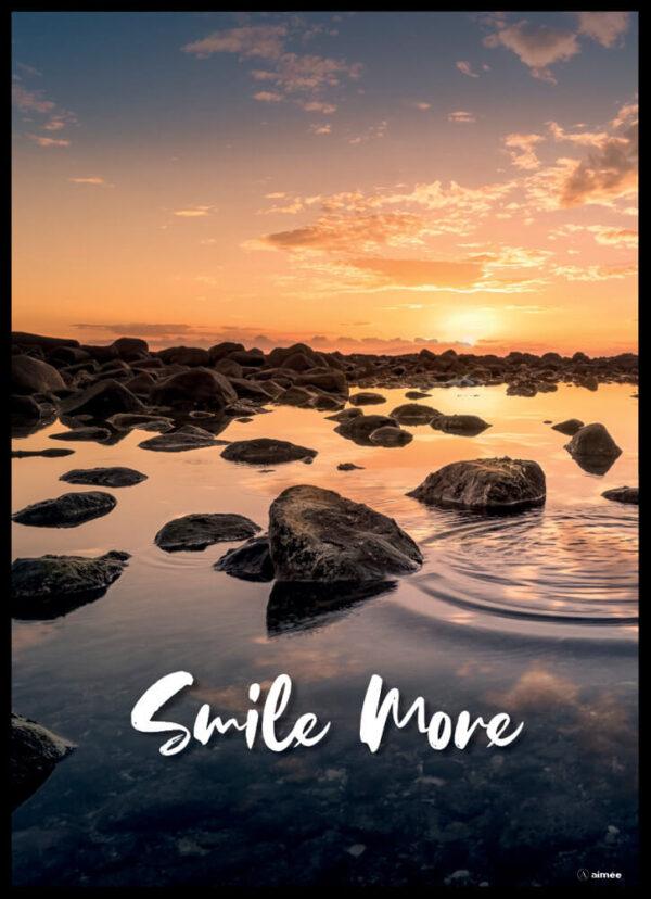 Smile more plakat