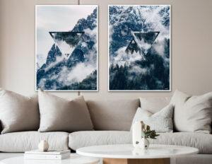 The mountain triangles fotokunst