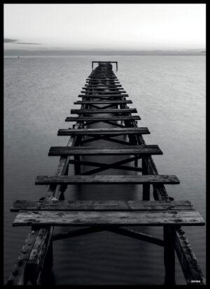 Træbroen i vandet plakat