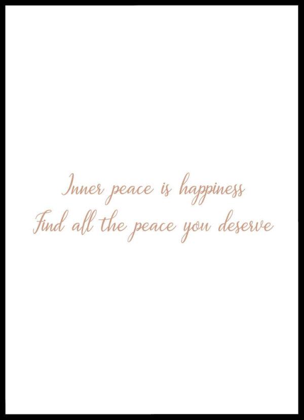 Peace and happiness citatplakat